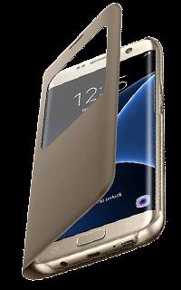 Accesoriu protectie tip carte Sview Samsung pentru S7 Edge auriu