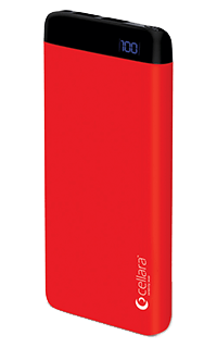Accesoriu baterie externa Cellara Pulse capacitate 6000 mAh rosie