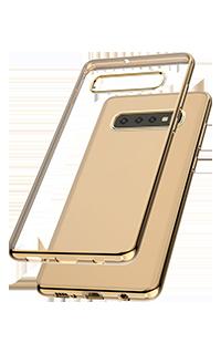 Accesoriu protectie spate Cellara colectia Electro pentru Samsung S10 Plus auriu