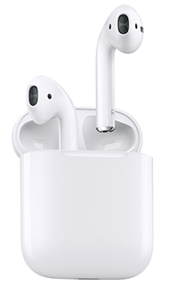 Accesoriu casti audio AirPods Apple cu bluetooth albe