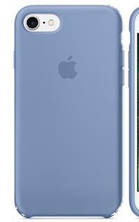 Accesoriu protectie spate Apple din silicon pentru iPhone 7 albastru deschis