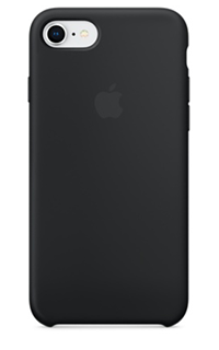 Accesoriu protectie spate Apple din silicon pentru iPhone 7/8 negru