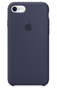 Accesoriu protectie spate Apple din silicon pentru iPhone 7/8 albastru