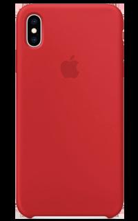 Accesoriu protectie spate Apple din silicon pentru iPhone XS Max rosu