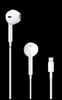 Accesoriu casti apple stereo cu lightning connector albe