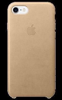 Accesoriu protectie spate apple din piele pentru iPhone 7 bej