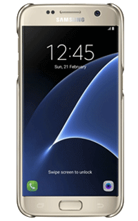 Accesoriu carcasa spate transparenta Samsung pentru S7 auriu