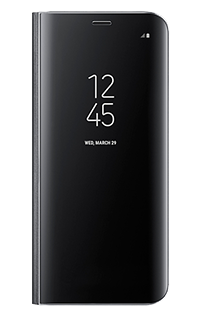 Accesoriu husa clear view standing cover Samsung pt Samsung S8 negru