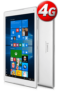 Tableta Alcatel Plus 10 4G Argintie cu Windows si Tastatura