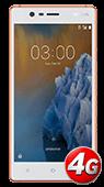 Nokia 3 Alb cu Aramiu Mat 4G