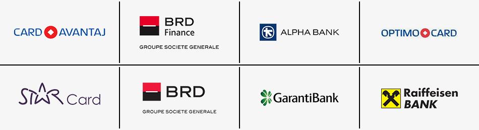 Card Avantaj / BRD Finance / Alpha Bank / Optimo Card / Star Card / BRD / Garanti Bank / Raiffeisen BANK