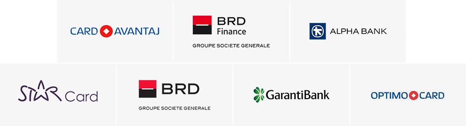 Card Avantaj / BRD Finance / Alpha Bank / Optimo Card / Star Card / BRD / Garanti Bank