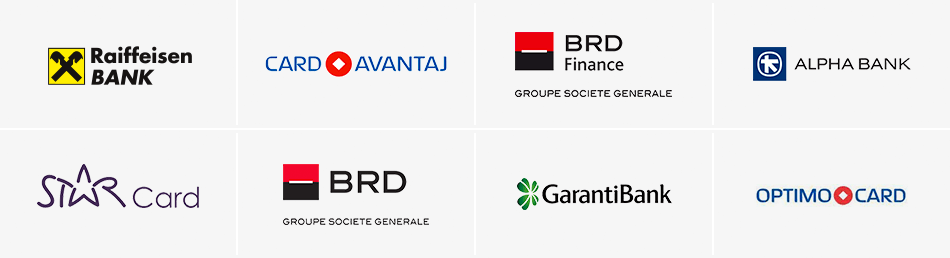 Card Avantaj / BRD Finance / Alpha Bank / Optimo Card / Star Card / BRD / Garanti Bank / Raiffeisen Bank